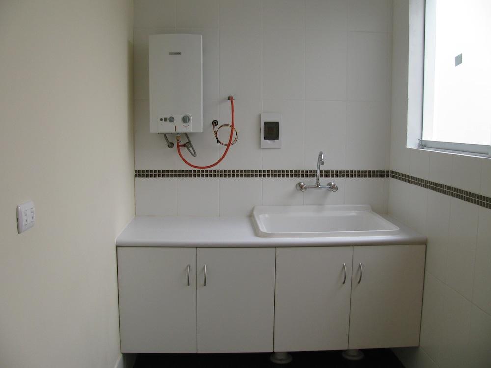 Mobiliario de cocina con lavadero idea creativa della for Planos de cocina y lavanderia